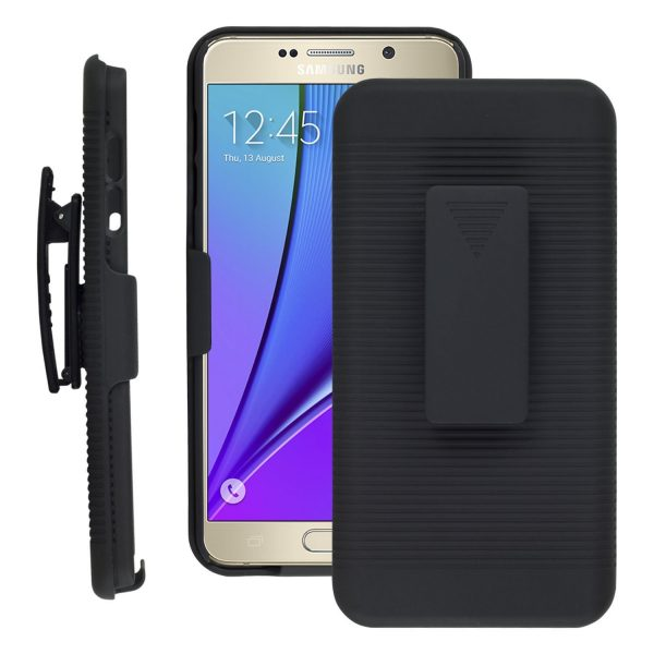 best sneakers 62c8c 80e1d Samsung Galaxy Note 5 -Holster Case With Kick-stand and Belt Clip